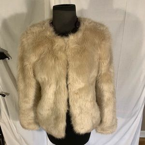 Forever 21 short faux fur jacket. Small